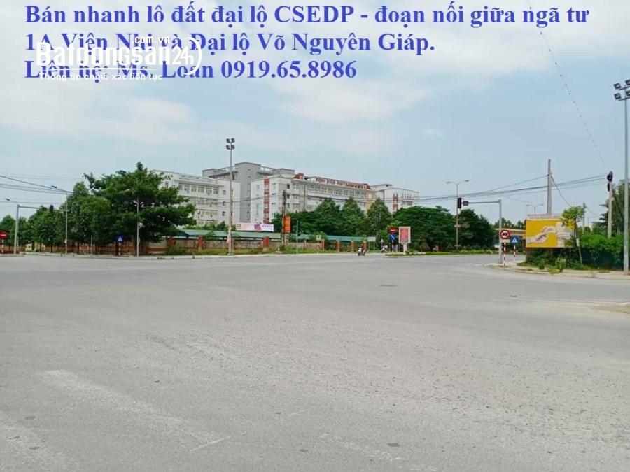 Bán nhanh lô đất đại lộ CSEDP - đối diện Viện Nhi Thanh Hóa. LH 0911.633.555