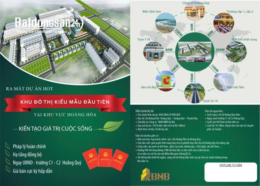 Đất Nền Khu Đô Thị Phú Quý - Hoằng Qúy – Hoằng Hóa – Thanh Hóa