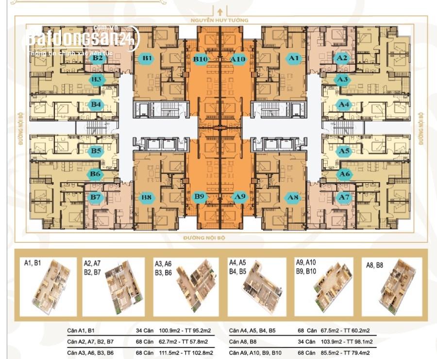 Cho thuê căn hộ chung cư Mỹ Sơn Tower, Đường Nguyễn Huy Tưởng, Quận Thanh Xuân