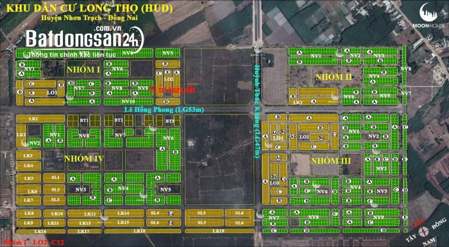 Bán dự án xây dựng hà nội Nhơn trạch, 100m2 giá :1.550.000.000đ