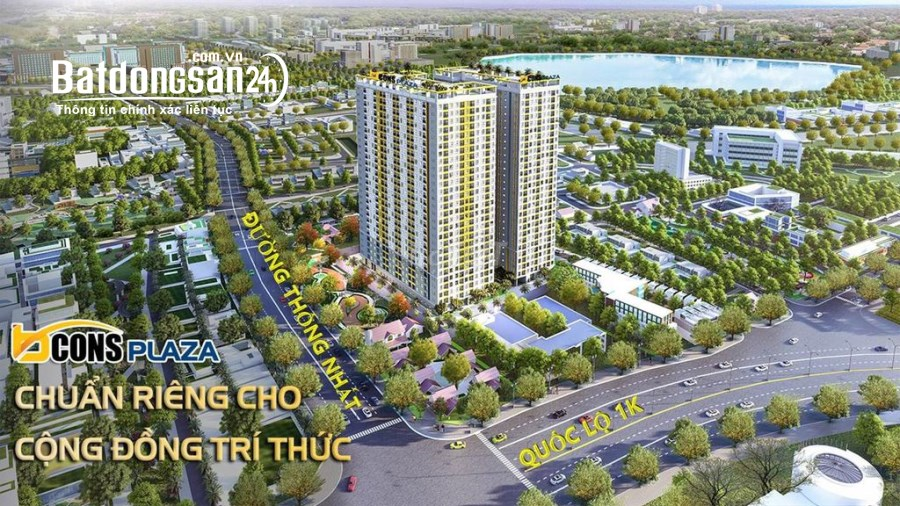 BCONS PLAZA - 1,58 TỶ/2PN 2WC, TẦNG TRUNG