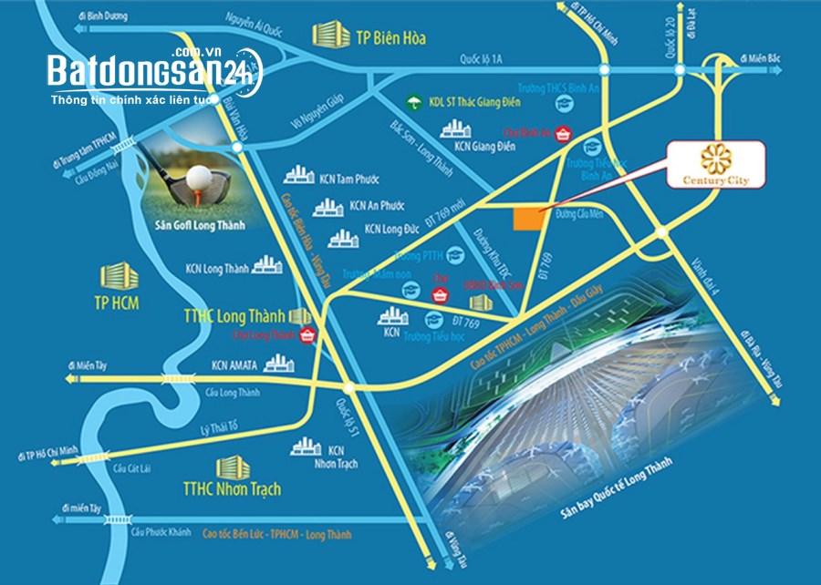 Bán đất nền phân lô Century City, Đường 769, Huyện Long Thành