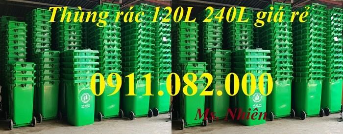 Giảm giá thùng rác 240 lít giá rẻ tại cần thơ- thùng rác mới 100%- lh 0911082000