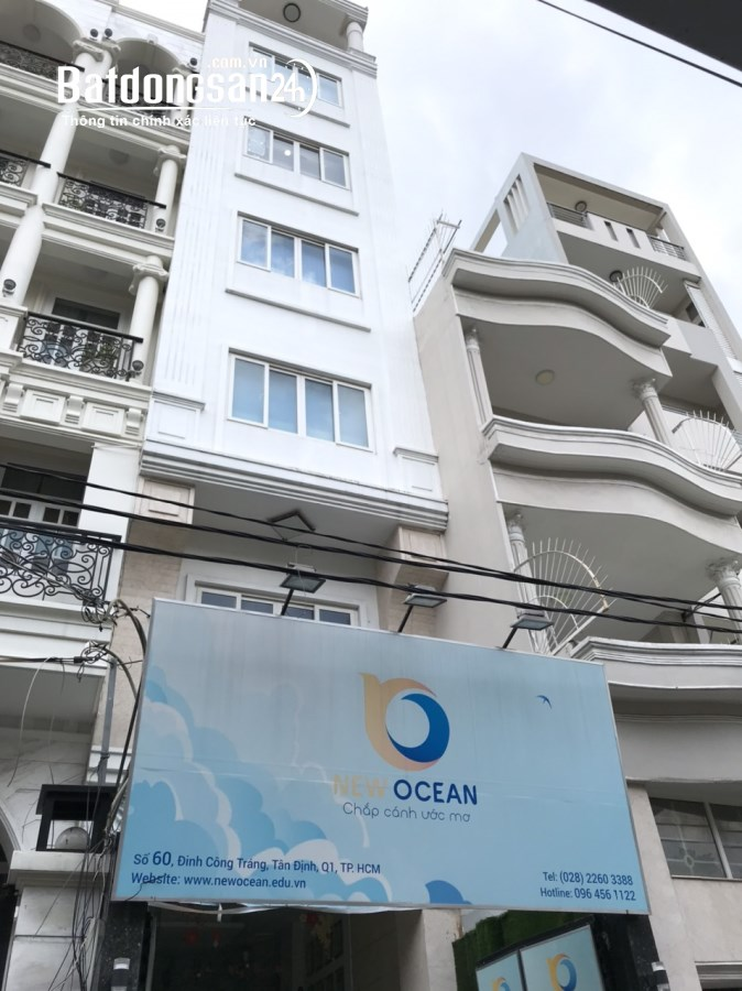 Cho thuê VP tầng 2 và 3 nhà MT 60 Đinh Công Tráng Tân Định Q1 giá từ 10tr/th