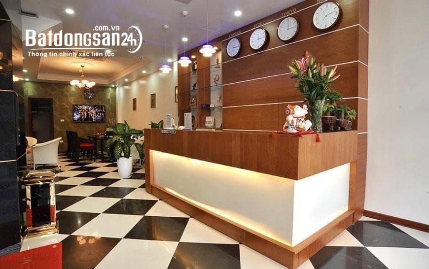 Cho thuê khách sạn 3 sao phố Trần Duy Hưng, Cầu Giấy 120m x7T1H gồm 20P full đồ