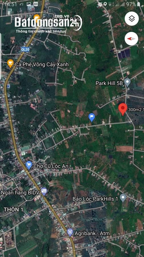 Bán đất 2 mặt tiền  Đường 20 vào 1km, Xã Lộc An, Huyện Bảo Lâm