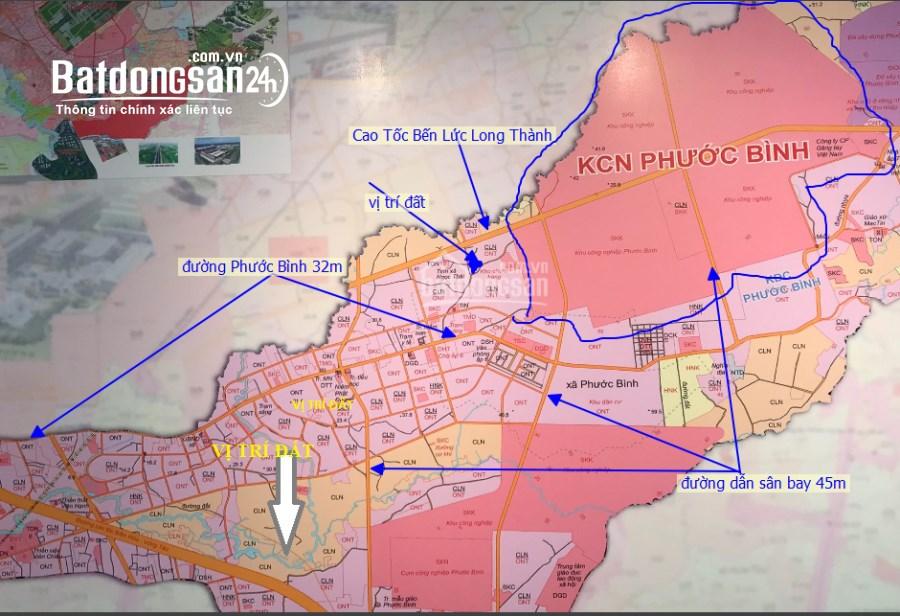 3,34 hecta có 145m mặt đường, Phước Bình, L Thành Cần bán giá 800 triệu / sào