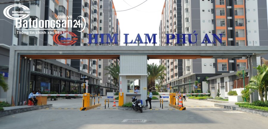 Cho Thuê căn hộ Him Lam Phú An Giá 7.5 Triệu/Tháng Rèm, Bếp Từ, Máy Nước Nóng.
