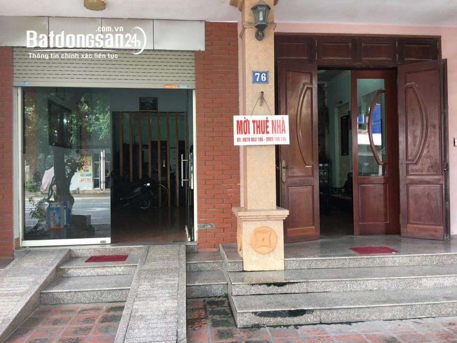 Cho thuê nhà mặt phố Đường Phan Đình Phùng, TP - Thái Nguyên