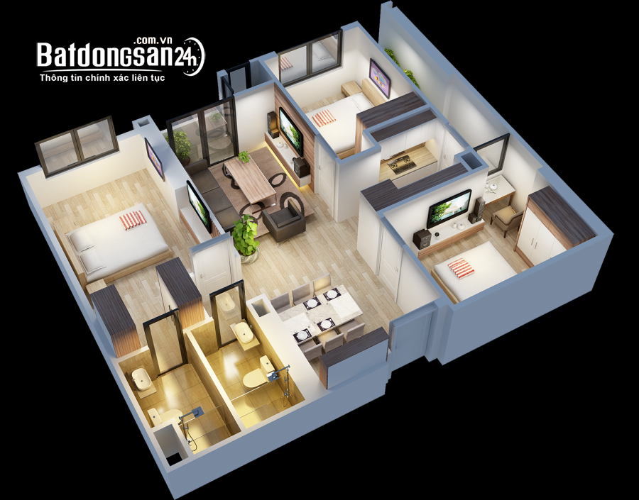 Bán căn hộ chung cư An Bình city – 90m2 giá 3 tỷ 050 - tầng 5.
