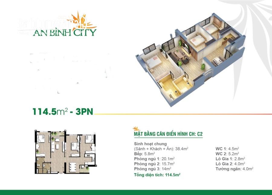 Chính chủ cần bán gấp căn hộ 14m2 chung cư An Bình city – full đồ đẹp.