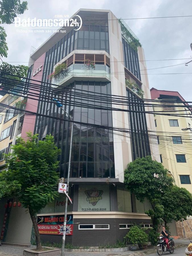 HIẾM quận Cầu Giấy, 9 tầng, mt 6.8m, 3 mặt Ô TÔ, Vỉa Hè, Thang Máy, KINH DOANH.