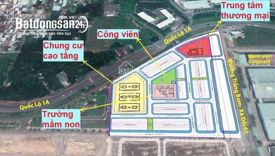 Bán đất Trảng Bom, 2 mt đường lớn, 1.4tỷ, vị trí đẹp, bao hết