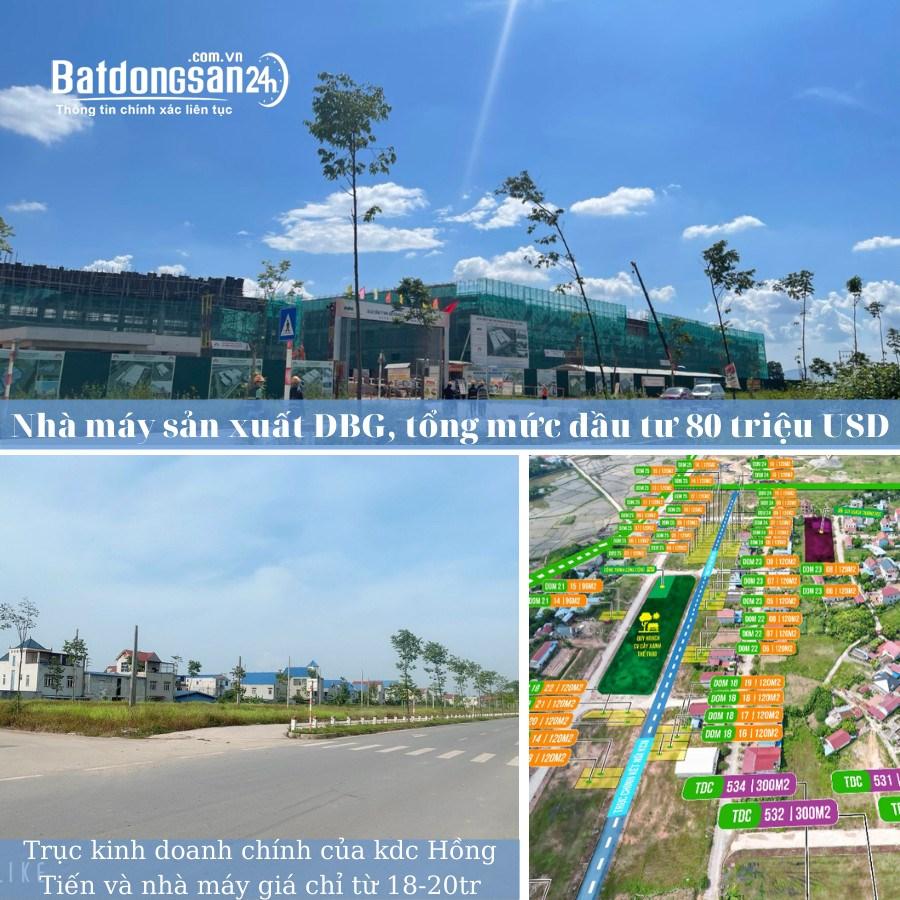 Đất nền KDC Hồng Tiến- Phổ Yên – Thái Nguyên.
