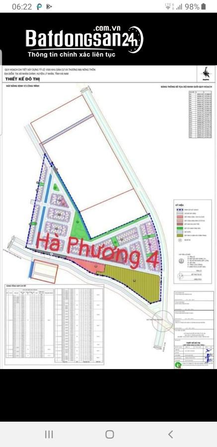Bán đất khu Hà Phương 4, Xã Nhân Chính, Huyện Lý Nhân