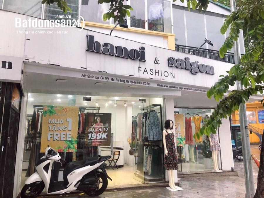 Cho thuê ./ bán nhà góc 2 mặt phố Đại Cồ Việt, Lê Đại Hành MT 9,5m cực đẹp