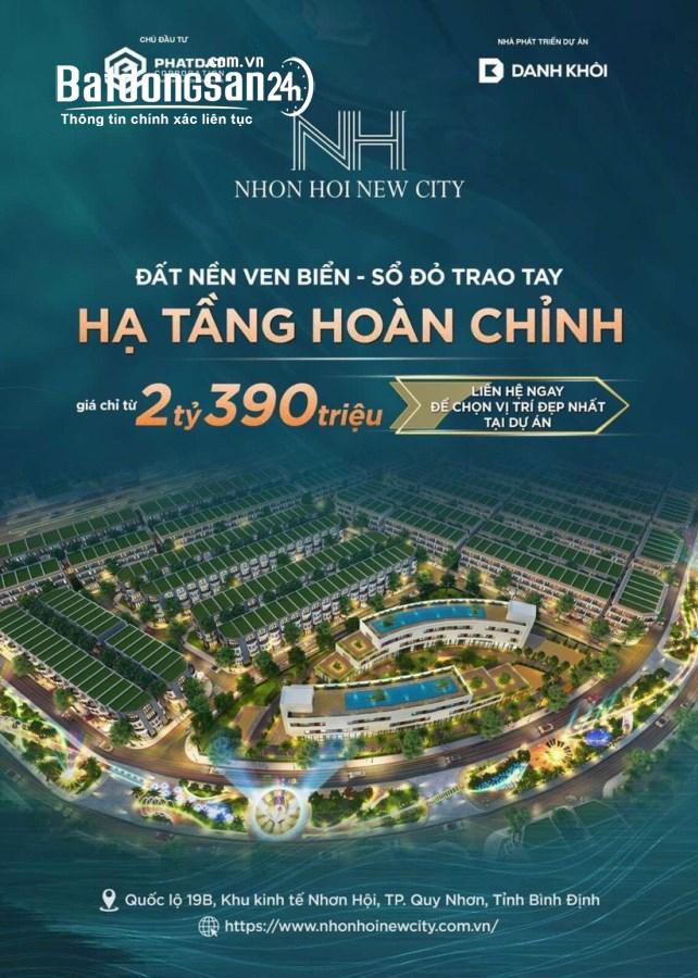 Bán đất nền phân lô Nhơn Hội New City, Đường Quốc lộ 19B, TP - Quy Nhơn