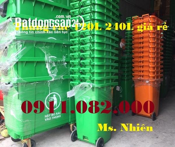 Công ty thùng rác nhựa giá rẻ tại sóc trăng, thùng rác 120 lít 240 lít 660 lít