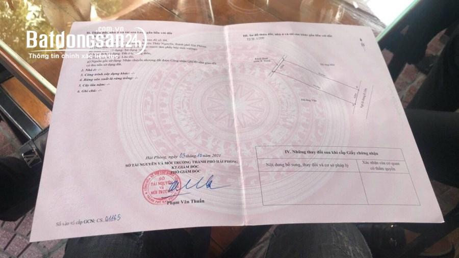Bán đất Đường Trưỡng, xã Mỹ Đồng Huyện Thuỷ Nguyên