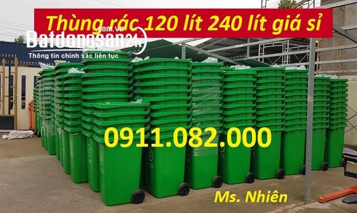 Thùng rác giá rẻ tại an giang - Cung cấp thùng rác nhựa 120L 240L 660L