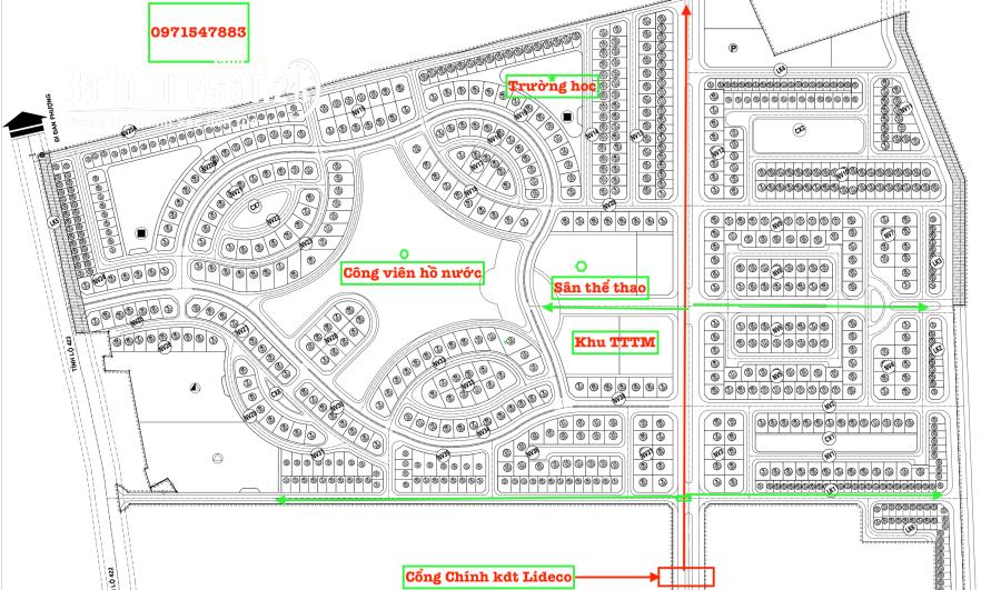 Bán biệt thự, villas Khu đô thị mới Lideco - Bắc Quốc lộ 32, Huyện Hoài Đức